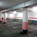 Protectores bobina diagonal rayada rojo-blanco