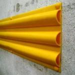Protectores PVC triple hueco para rampas y paredes