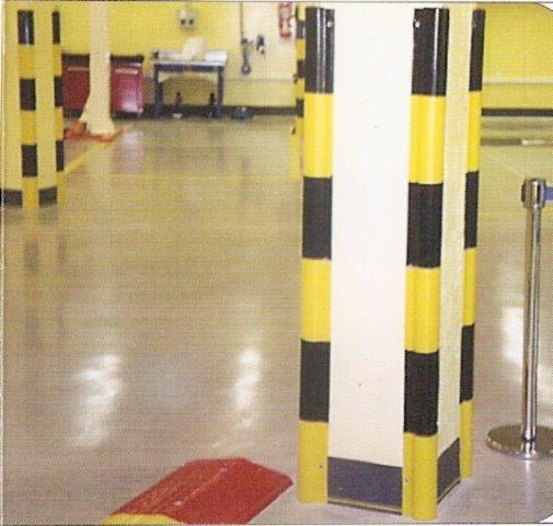Protectores PVC esquinas doble hueco