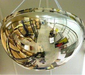 Espejos hemisféricos de interiores