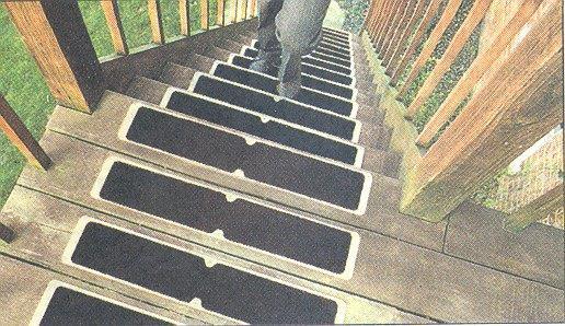 Placas antideslizantes para escaleras